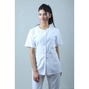 Beşgen Yaka Ceket Boy Hemşire Forması Önlük ve Pantolon Takım